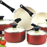 Cook N Home NC-00359 Nonstick Ceramic Coating 10-Piece Cookware Set, Red Reviews