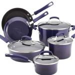 Rachael Ray Porcelain Enamel II Nonstick 10-Piece Cookware Set, Purple Gradient Reviews